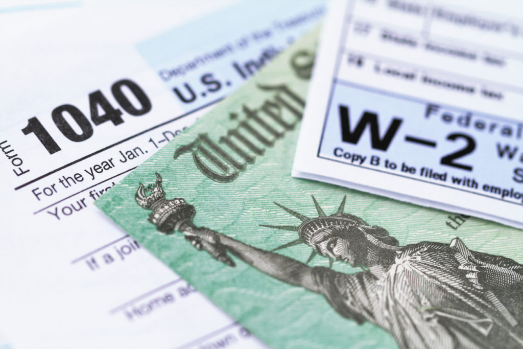 image of US federal tax forms